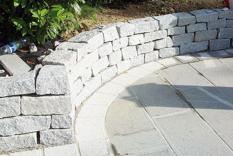 mauersockel verkleidung granit